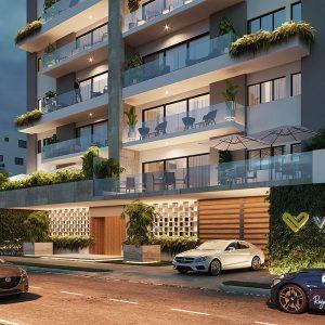 Comprar un apartamento para alquiler - Apartamentos en Construccion en Serralles - Apartamentos baratos de lujo en Santo Domingo