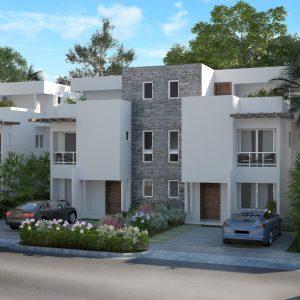 Apartamentos y Casas en Punta Cana Crisfer - Fachada de las Villas.