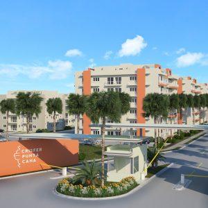 Apartamentos y Casas en Punta Cana Crisfer - Entrada al proyecto de apartamentos y casas en Crisfer Punta Cana