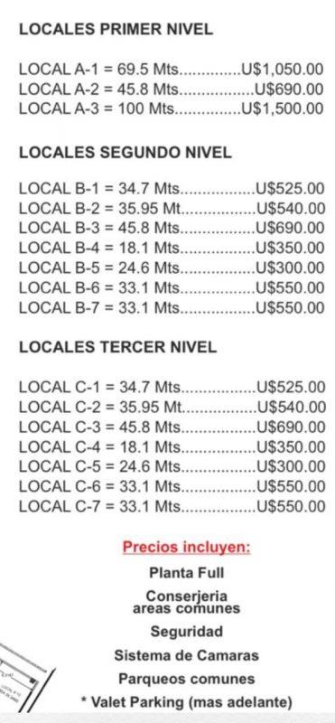 Locales en alquiler  de 24 a 100 Mt2 en Don Bosco