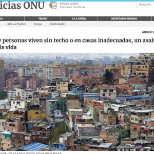 Sin Casas para vivir - Noticias ONU - Foto de Dominic Chavez:Banco Mundial