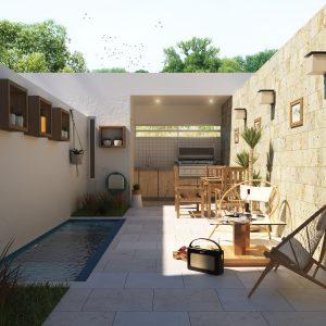 Villas en Bavaro Punta Cana a 3 minutos de Plaza San Juan en el centro- - Vista Patio Bavaro Residens - remax RD Regis Jimenez 1-809-350-4540