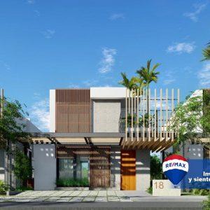 Villas en Punta Cana con patio y piscina